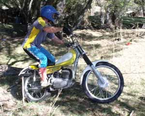 Classic Trials at Cust, S Jones. Yamaha TY250